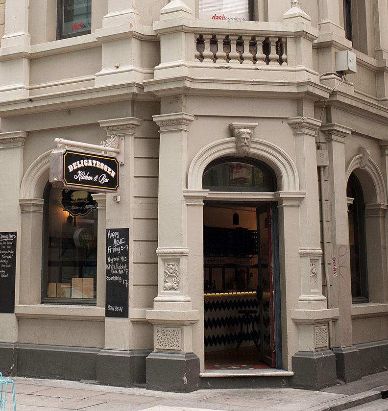 Delicatessen is on 12 Waymouth St, Adelaide